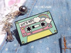 Enamel pin music cassette 90 candy party kawaii pastel pins