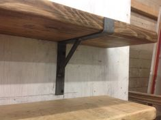 Sanded Scaffold board Shelf complete with two rustic metal brackets.  Shelf length 1.20m long  We sand the boards smooth in our workshop while