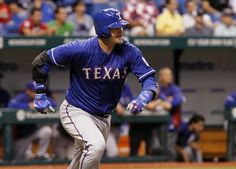 CrowdCam Hot Shot: Texas Rangers catcher A.J. Pierzynski singles during the fourth inning against the Tampa Bay Rays at Tropicana Field. Photo by Kim Klement