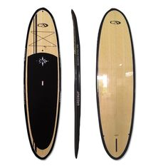 """NEW 9'0"""" CA Bamboo Stand Up Paddle board SUP Pkg Paddle Fins Leash surf #GreenupDesigns"""