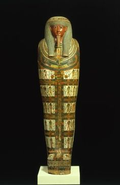 Cartonnage of Nespanetjerenpere. This Egyptian coffin dates to the Third Intermediate Period (ca. BC), and is reportedly from Thebes. Cartonnage, a substance made of cloth or papyrus mixed. Ancient Egyptian Art, Ancient Ruins, Ancient Artifacts, Ancient History, Art History, Egypt Mummy, Visit Egypt, Archaeology, Images