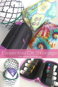 Essential Oil Storage Solutions #yleo Who doesn't love BAGS???
