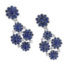 Women's Jewellery | Eclectibles  David Morris earrings  In sapphire and diamond, £185,000