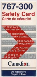 Canada Safety Cards - Canada Safety Card - Canada Safetycards - Canada Safetycard - my-safetycard. Pacific Airlines, Canadian Airlines, Air Lines, Safety, Canada, Lettering, Archive, Pictures, Photos