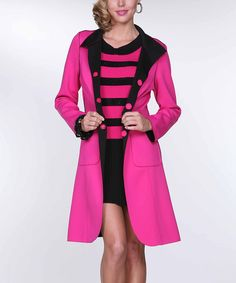 This lovely jacket is reversible and can be worn as black or Fushia. Pair it with our Fushia scuba skirt and pair of knee high black boots to create your sophisticated look. Boutique Clothing, Fashion Boutique, Types Of Coats, Pink Fashion, Jacket Style, Coats For Women, Black Boots, Cool Style, Cute Outfits