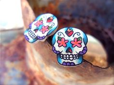 Mexican holiday Men Cuff links Gift Birthday anniversary gothic pirate day of dead silver sugar skull cuff links Skull Cufflinks