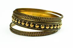 Grecian Temptress Brass Bangles – Village Artisan
