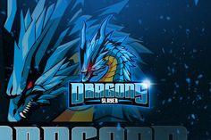 , Dragons - Mascot & Esport Logo- Suitable for your personal or squad logo, All elements on this template are editable with adobe illustrator! Logo Gaming, Logo Dragon, Game Logo Design, Esports Logo, Stoner Art, Black Cartoon, Logo Sticker, Branding, Logo Templates