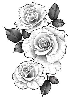 Beautiful! Right hip Valkerie Tattoo, Body Art Tattoos, Sleeve Tattoos, Stencils Tatuagem, Tattoo Stencils, Rose Drawing Tattoo, Tattoo Drawings, Arm Drawing, Tattoo Shading