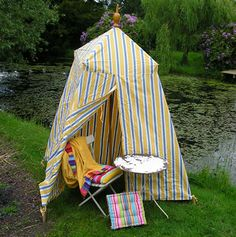 Bathing Tent...so fun.