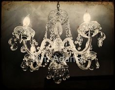 Antique Chandelier #chandelier