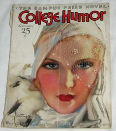 Antique College Humor Magazine Sept 1932 Rolf Armstrong Cover Red Grange Article | eBay
