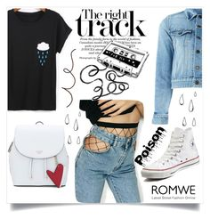 """""""Romwe"""" by abrigic ❤ liked on Polyvore featuring Yves Saint Laurent, WithChic, Converse and Old Navy"""
