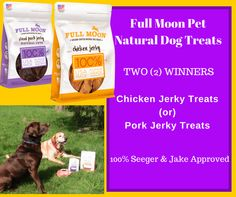 Full Moon Natural Dog Treats Review & Giveaway ends 5/31