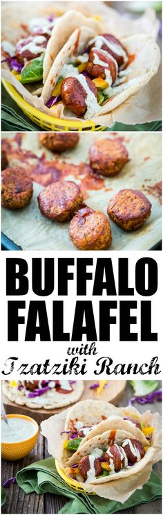 Buffalo Falafel with #Vegan Tzatziki Ranch Sauce. An easy way to impress all of your vegan and omnivore friends. And did I mention, it's damn tasty? #glutenfree | Keepin' It Kind