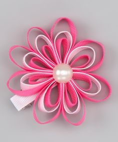 Take a look at this Kosse Designs Pink & White Ribbon Clip by Kosse Designs on #zulily today!