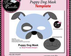 dog face mask printable | printable dog mask – Etsy