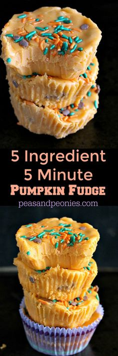 5 Ingredient 5 Minute Pumpkin Fudge - Peas and Peonies