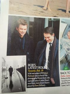 Robert Pattinson E Dane Dehaan No Set De LIFE Em Scan Da People