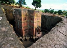 Lalabella, Ethiopia and Coptic Christian churches carved out of stone