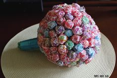 "Lollipop Bouquet - How to make for ""suck for a buck""."