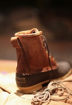 I would love to try a pair of bean boots on to see how they'd look. I've been wearing Chukkas lately and love them, I need a good fit like this for nasty weather days.