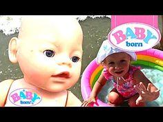 Беби Бон кукла купается в море Беби Борн купание в бассейне Видео с кукл...