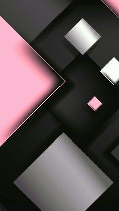 Pink White and Black Geometric Wallpaper