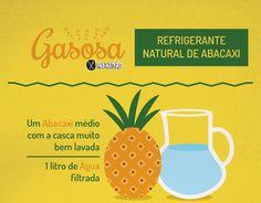 Que tal aprender fazer um refrigerante natural de abacaxi, muito fácil de preparar. Você precisa de abacaxi e água.