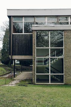 Haarkon Bretton Hall Campus School College Architecture Modernist Building Wood Yorkshire Sculpture Park Staircase