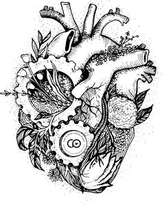 The Heart working in with nature as an environmental message. Available on a wide range of garments.