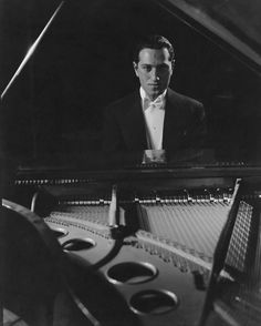 A Portrait Of George Gershwin At A Piano by Edward Steichen, February 1932 Edward Steichen, An American In Paris, Rhapsody In Blue, Piano Player, Music Composers, Jazz Blues, Classical Music, Vanity Fair, Musicals