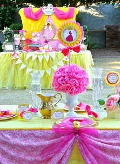 Princess Belle Birthday Party Decorations Beauty And The Beast  Princess Belle Royal Ball  Birthday Party