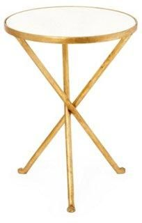 Pretty and practical, this gilded tripod side table is pretty much perfect!