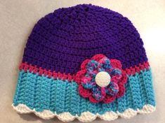 Lady's Winter Hat by Yarnhotoffthehook on Etsy, $20.00 https://www.etsy.com/shop/Yarnhotoffthehook?ref=l2-shopheader-name