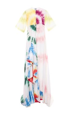 Cotton Poplin Gonzo Gown With Ruffles by ROSIE ASSOULIN Now Available on Moda Operandi
