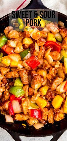 Sweet And Sour Pork Chops, Sweet N Sour Pork Recipe, Pork Recipe With Pineapple, Pork Stew Meat, Stew Meat Recipes, Pork Recipes, Beef, Veggie Fries, Veggie Stir Fry