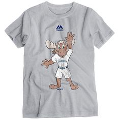 Seattle Mariners Majestic Youth Vintage Mascot T-Shirt - Gray - $16.14