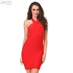 women summer dresses 2016 new sexy red blue black women party celebrity elegant bodycon sexy cute backless bandage dress