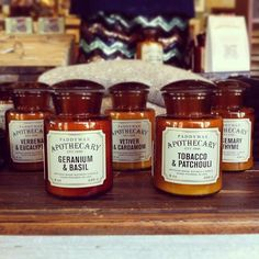 The new Apothecary candles by Paddywax are AMAZING! Definite staff (at Atown) Apothecary Candles, Diy Candles, Soy Wax Candles, Candle Wax, Paddywax Candles, Amber Glass Bottles, Candle Companies, Candle Stand, Wax Melts
