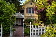 If you are a literary wine lover, you'll LOVE the Ambrose Bierce House in Napa. The legendary writer lived here -- and the quaint inn is right in the heart of wine country. Victorian Bed, St Helena, Vacation Home Rentals, House Beds, Cottage Homes, Napa Valley, California Travel, Best Vacations, Bed And Breakfast