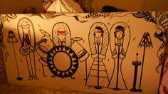 (VENDIDA) - A banda Acrílica - tela 2,50X1,00 arte- art