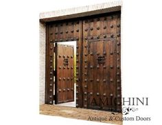 "Amazing Medieval design made of Reclaimed timbers 96x120"" checkout this site. many doors including iron, steel/glass,"