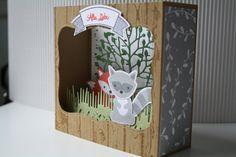 Box Card mit Foxy Friends von Stampin' Up!