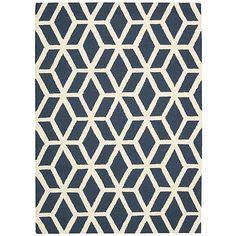$120 Nourison Linear, LIN01, Blue/Ivory