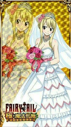 Fairy Tail Ultimate Dance of Magic - Lucy Heartfilia Wedding Version Natsu Fairy Tail, Fairy Tail Lucy, Fairy Tail Ships, Arte Fairy Tail, Fairy Tail Erza Scarlet, Image Fairy Tail, Fairy Tail Girls, Fairy Tail Couples, Erza Scarlet Armor