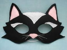 cat mask pattern - Google Search