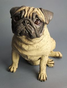 "Obtain fantastic ideas on ""pug dogs"". They are actually offered for you on our website. Dog Sculpture, Pottery Sculpture, Animal Sculptures, Pottery Animals, Ceramic Animals, Ceramic Art, Paw Print Art, Paper Mache Animals, Dog Day Afternoon"
