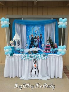 FROZEN PARTY, Frozen banner ( frozen decoration), candy buffet table, candy buffet, candy bar decoration