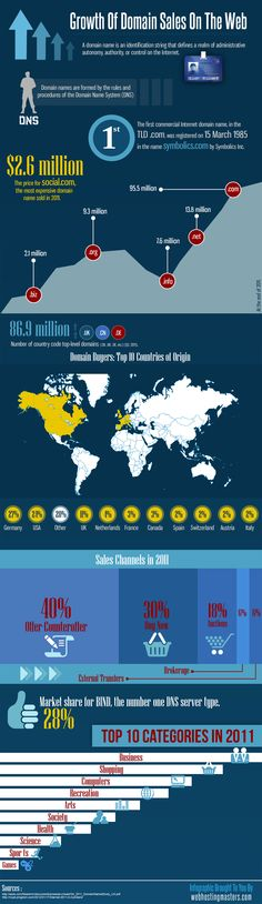 The Growth of Domain Sales on the web explained here: http://www.webhostingmasters.com/infographics/growth-of-domain-sales/
